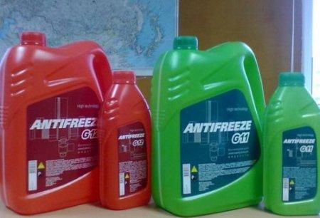 Сравниваем красный и зеленый антифриз